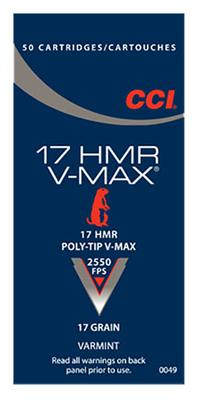 V-MAX VARMINT RIMFIRE 17HMR VMAX 17GR 50RND
