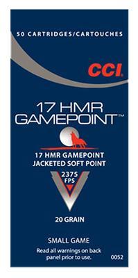GAMEPOINT 17HMR JSP 20GR 50RND