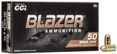 CCI 5202 Blazer 380 ACP 95 GR Full Metal Jacket Box of 50