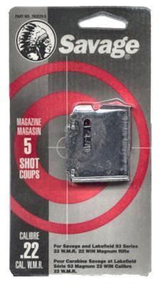 Savage 90001 93 Series 22 Winchester Magnum Rimfire/17 Hornady Magnum 5 rd Blued Finish