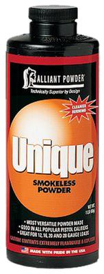 Alliant 150656 Unique Smokeless Pistol/Shotgun Powder 1lb 1 Canister