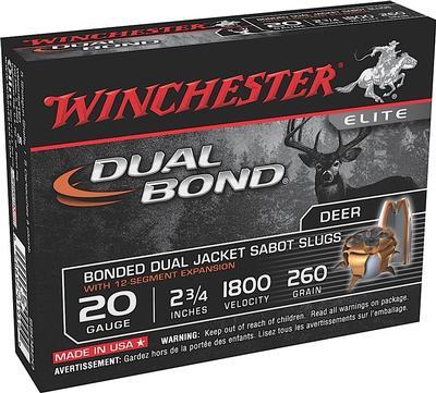 20GA 2-3/4 260GR DUAL BOND SABOT SLUG