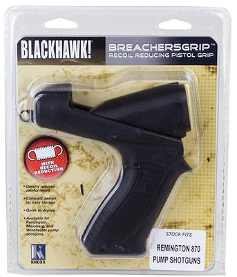 Blackhawk K02100C BreachersGrip Pistol Grip Stk Rem 870 High Impact Poly Black