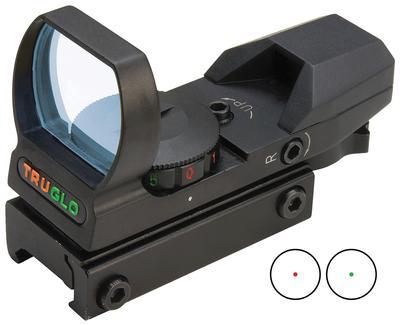 Truglo TG8360B Multi-Reticle 1x 34mm Obj Unlimited Eye Relief Multi-Reticle Black