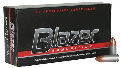 CCI 3578 Blazer 9mm Full Metal Jacket 124 GR 50Box/20Case