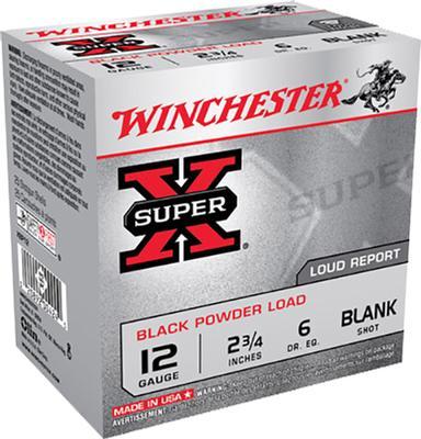 SUPER-X 12 GA 2-3/4IN BLACKPOWER BLANK