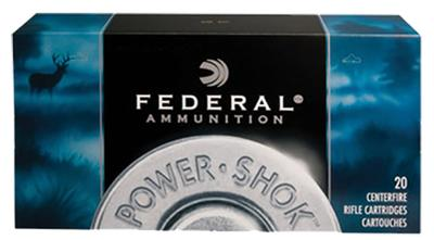 Federal 223A Power-Shok 223 Remington/5.56 NATO 55 GR Soft Point 20 Bx/ 10 Cs