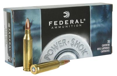 Federal 243B Power-Shok 243 Winchester 100 GR Soft Point 20 Bx/ 10 Cs