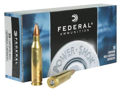 Federal 243AS Power-Shok 243 Winchester 80 GR Jacketed Soft Point 20 Bx/ 10 Cs