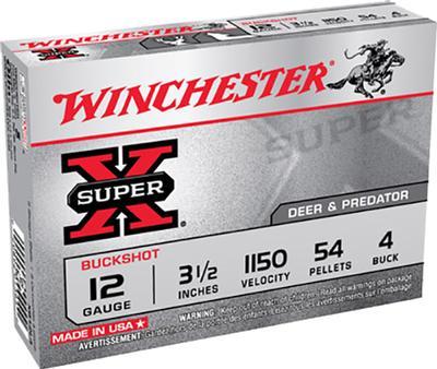 12GA 3-1/2 4 BUCK MAG SUPER X BUCKSHOT