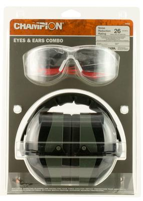 Champion Targets 40622 Eyes And Ears Earmuffs/Shooting Glasses Clear/Green