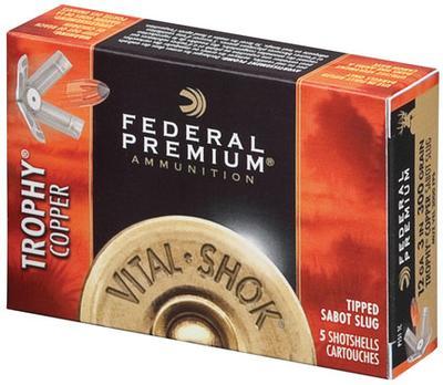 Federal P152TC Vital-Shok Trophy Copper Sabot Slug 12 Gauge 2.75