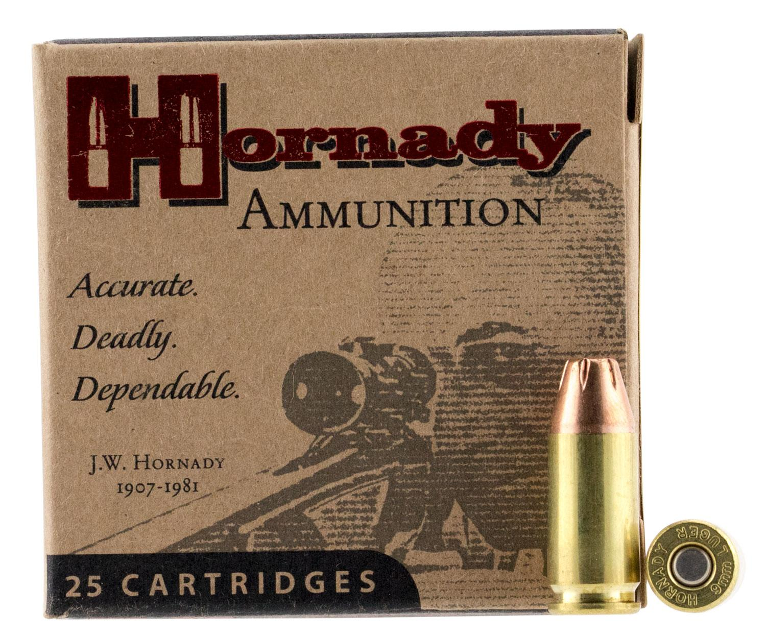 Hornady 90242 Custom 9mm Luger 124 GR XTP Hollow Point 25 Bx