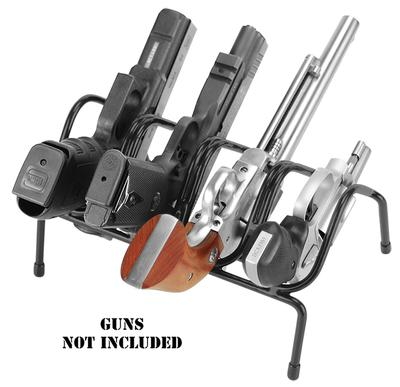 Lockdown 222200 Handgun Rack 4 Guns Metal Black