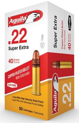 Aguila 1B222328 Standard 22 Long Rifle 40 GR Soft Point 50 Bx/ 100 Cs