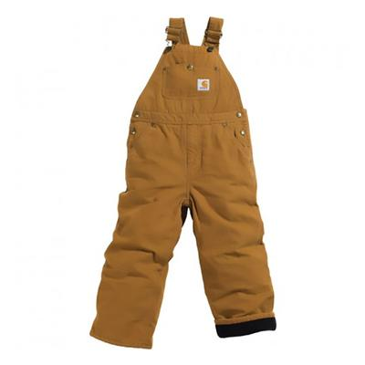 WASHED CANVAS BIB OVERALL QUILT LINED