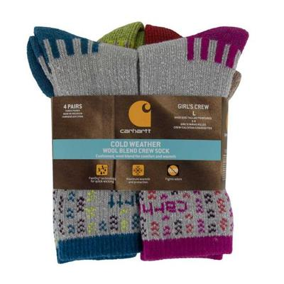 GIRLS 4 PACK SOCKS