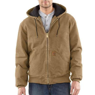 MENS QUILTED FLN LINED HOODED SANDSTONE