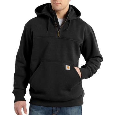 MENS HVYWT 1/4 ZIP HOODED SWEATSHIRT