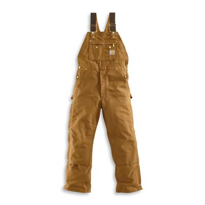 MENS ZIP TO THIGH BIB OVERALLS UNLINED