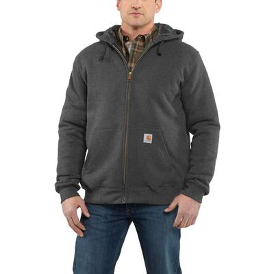 MENS QUILTED LINED ZIPUP HOODED SWTSHRT