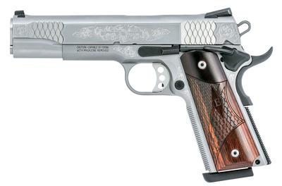 SW1911 MACHINE ENGRAVED,5IN, 45ACP