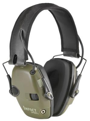 Howard Leight R01526 Impact Sport Electronic Muffs 22 dB Black/Green