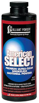 Alliant 150823 American Select Smokeless Shotgun Powder 1lb 1 Canister