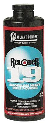 Alliant 150833 Reloder 19 Smokeless Heavy Rifle Powder 1lb 1 Canister