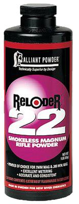 Alliant 150836 Reloder 22 Smokeless Magnum Rifle Powder 1lb 1 Canister