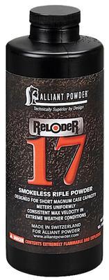 Alliant 150662 17 Reloder Smokeless Short Magnum Rifle Powder 1lb 1 Canister