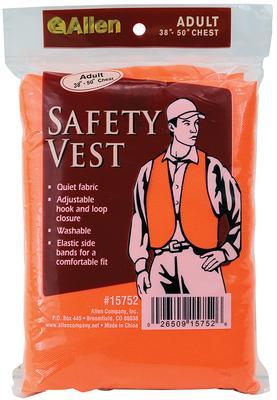 Allen 15752 Hunting Vest Orange Adult Quiet Acrylic