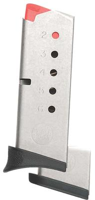 Smith & Wesson 199300000 Magazine 380ACP Bodyguard Stainless Steel 6rd