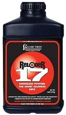 Alliant 150663 17 Reloder Smokeless Short Magnum Rifle Powder 5lbs 1 Canister
