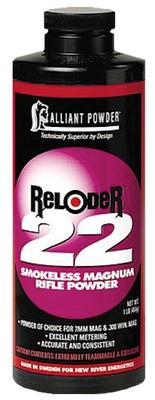 Alliant 150837 Reloader 22 Smokeless Magnum Rifle Powder 5lb, 1 Canister