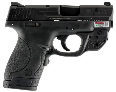 Smith & Wesson 10141 M&P Sheild w/Crimson Trace Green Laserguard Double 9mm 3.1