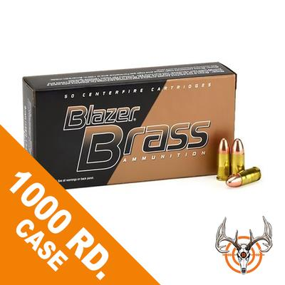 9MM 124 GR FMJ 1000 RDS BLAZER BRASS