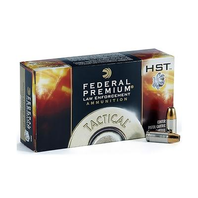 9MM 124 GR +P HP HST TACTICAL 50 RD