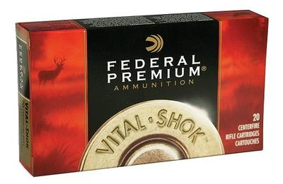 Federal Premium Vital-Shok Rifle Ammunition P223E, 223 Remington, 55 GR, 3240 fps, 20 Rd/bx