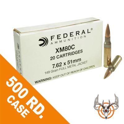7.62X51308WIN 149GR FMJ 500 RDS