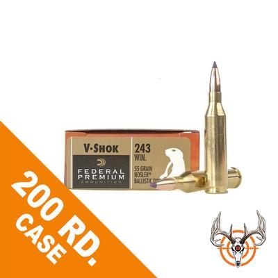 243WIN 55GR NOSLER BT VITAL-SHOK 200RD