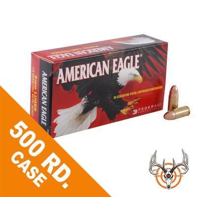 45 AUTO 230GR FMJ  500RDS AMERICAN EAGLE