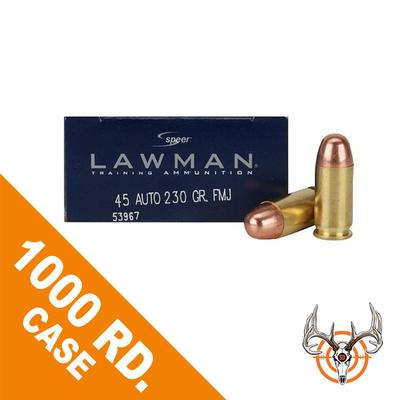 45 ACP 230 GR TMJ RN LAWMAN 1000 RD