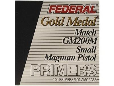 SMALL MAGNUM PISTOL MATCH PRIMERS #GM200M 1000CT
