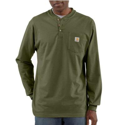 3 BUTTON HENLEY LONG SLEEVE POCKET TEE