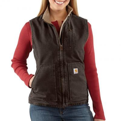 WOMENS SANDSTONE MOCK NECK VEST