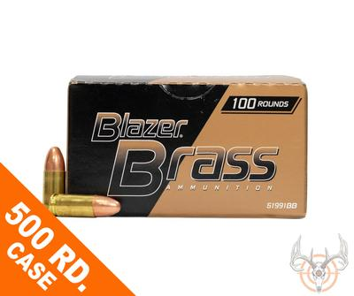 9MM 115GR FMJ BLAZER BRASS 500RD