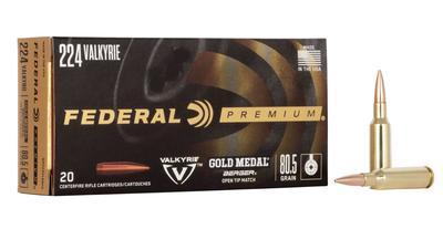 224 VALKYRIE 80.5GR GOLD MEDAL MATCH BERGER OPEN TIP 20 RD