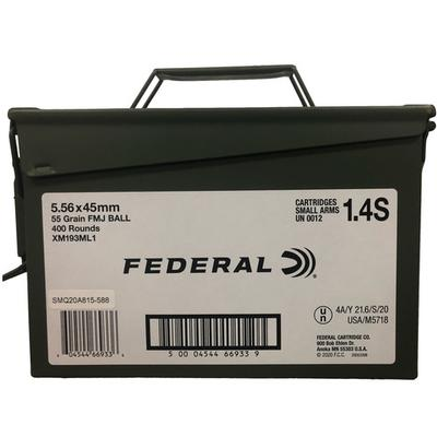 5.56X45MM 55GR FMJ BALL AMMO CAN 400RD