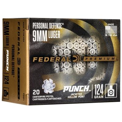 9MM LUGER 124GR JHP PUNCH 20RD